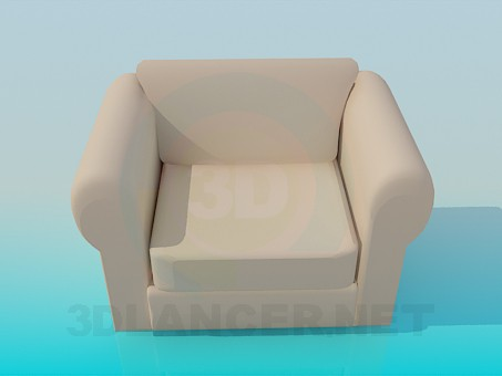 3d model Soft armchair - preview