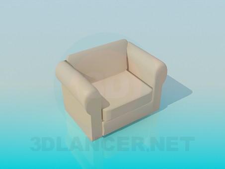 3d модель М'яке крісло – превью