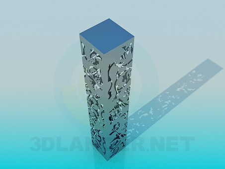 3d modeling High floor lamp model free download