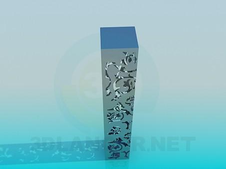 modelo 3D Alta lámpara de pie - escuchar