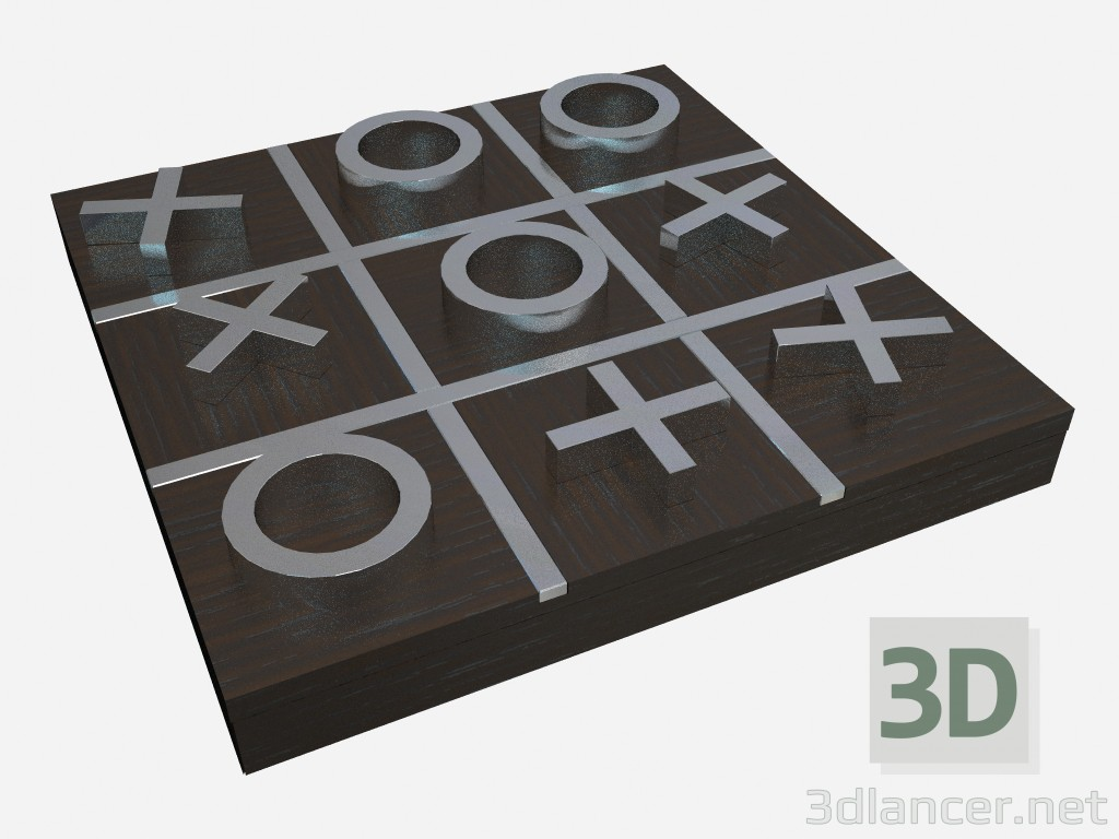 3d modeling Décor element Tic-Tac-Toe in art deco style model free download