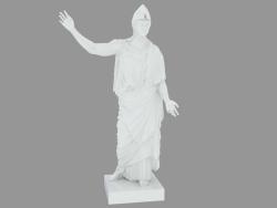 Scultura di porcellana Athena Pallas de Velletri