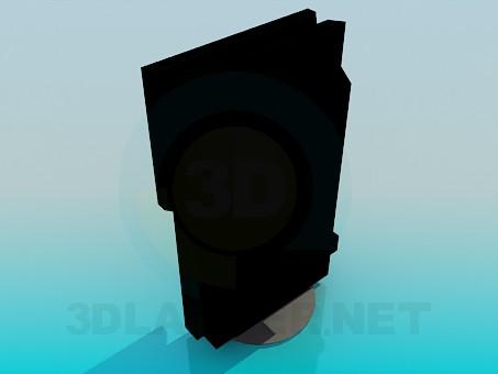 modelo 3D TV en el soporte - escuchar