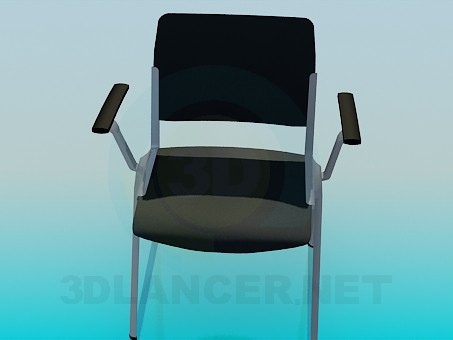 3D Modell Bürostuhl - Vorschau