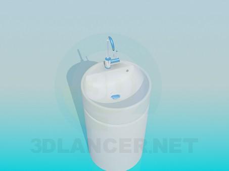 3d model Un lavabo estrecho - vista previa