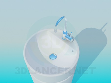 3d model A narrow wash basin - preview
