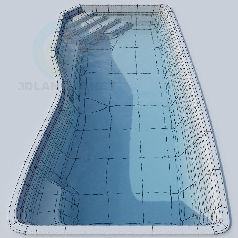 3d model pool - preview