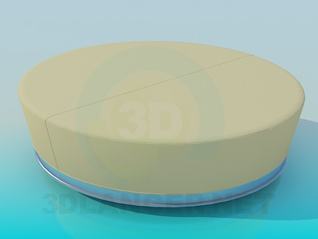 3d model Oval couch - preview