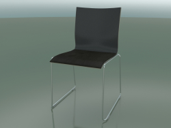 Sliding chair, extra width, with leather seat upholstery (127)