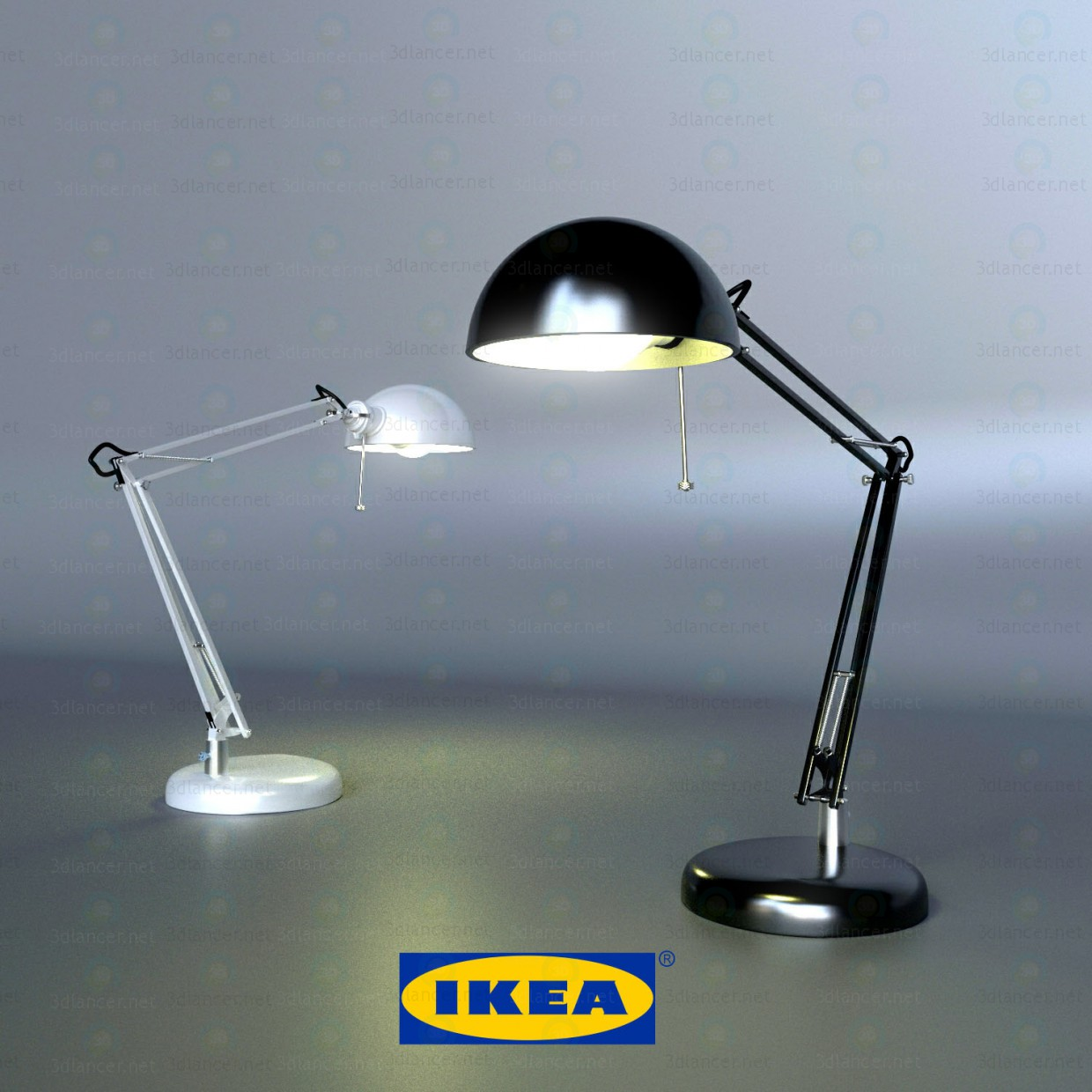 3d Modeling Table Lamp Ikea Forsa Model Free Download