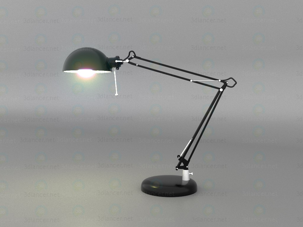 3d Model Table Lamp Ikea Forsa Download For Free