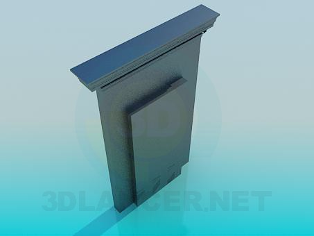 3d модель Фальш дверь – превью