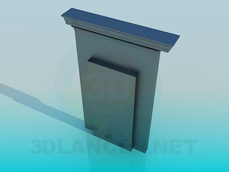 modelo 3D Puerta falsa - escuchar