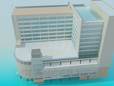 3d model Office building - preview