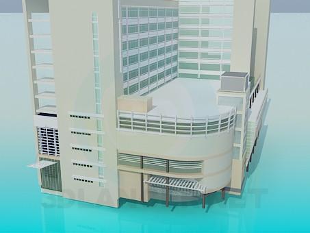 3d модель Офисный комплекс – превью