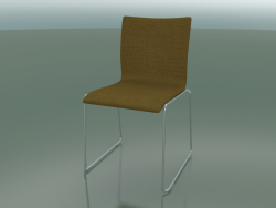Sliding chair, extra width, with fabric upholstery (127)