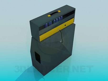 3d модель Старовинне радіо – превью
