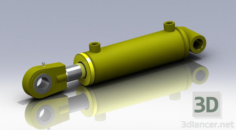 descarga gratuita de 3D modelado modelo Cilindro hidráulico