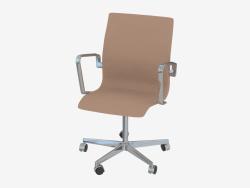 Крісло офісне Oxford (з коліщатками і низькою спинкою)