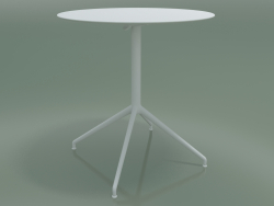 Round table 5744 (H 72.5 - Ø69 cm, spread out, White, V12)