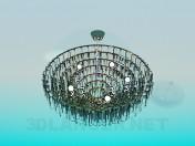 A huge chandelier