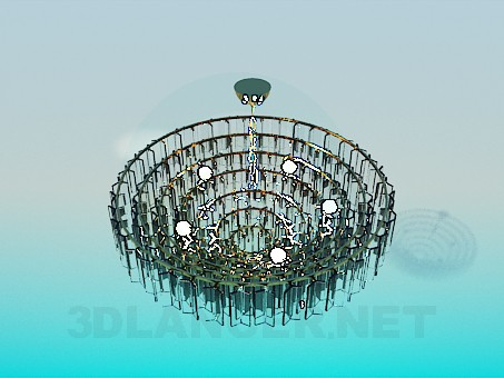 3d modeling A huge chandelier model free download