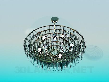 modelo 3D Una enorme lámpara de araña - escuchar