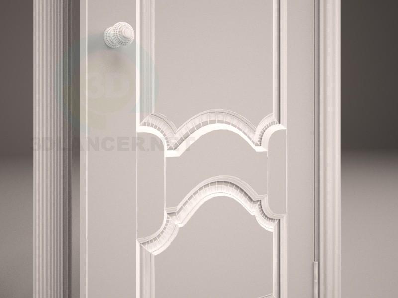 3d модель Дверь деревянная – превью