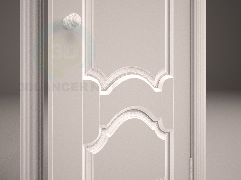 modelo 3D puerta madera - escuchar