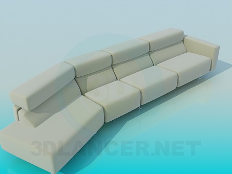 3d modeling Long sofa model free download