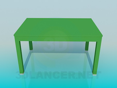 3d model Normal table - preview