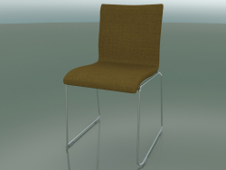 Sliding chair, extra width, with fabric upholstery, padded (127)