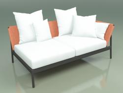 Sofa module left 005 (Metal Smoke, Batyline Orange)