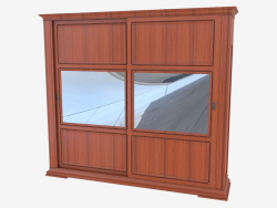 Two-door wardrobe with mirrors 1811