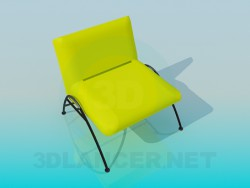 Chair without armrests