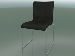 Sliding chair, extra width, with leather upholstery, padded (127)