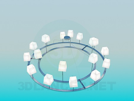 3d modeling The chandelier in the style of minimalism model free download