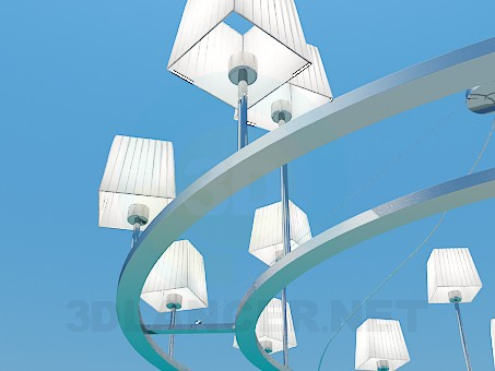 3d model The chandelier in the style of minimalism - preview