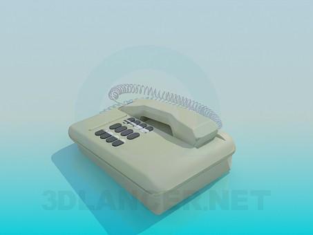 modelo 3D Teléfono - escuchar