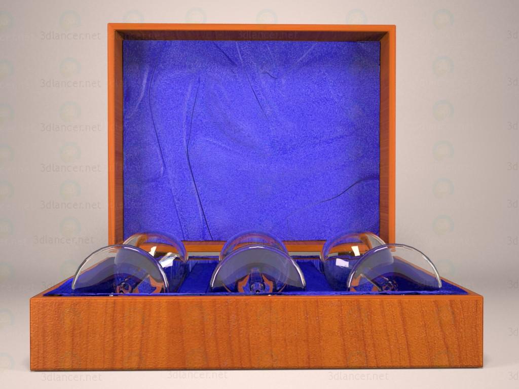 descarga gratuita de 3D modelado modelo Conjunto de los vidrios en el cuadro