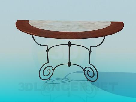 3d модель Столик приставной – превью