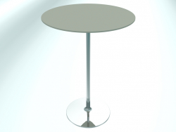 Table de restaurant ronde (RR10 Chrome G3, Ø800 mm, H1100 mm, base ronde)