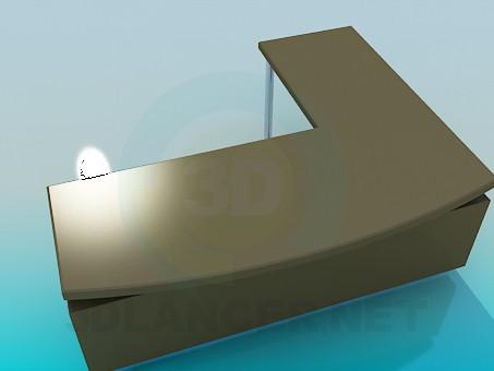 modelo 3D Mesa de funcionamiento del ángulo - escuchar