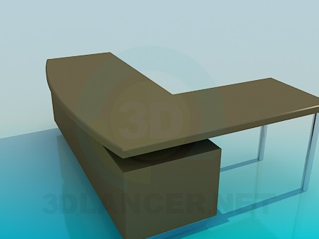 3d model Working angle table - preview