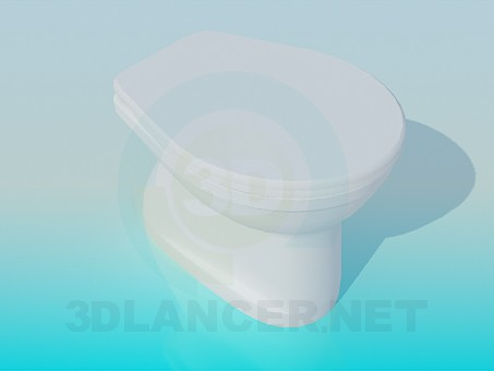 3d modeling Toilet bowl model free download