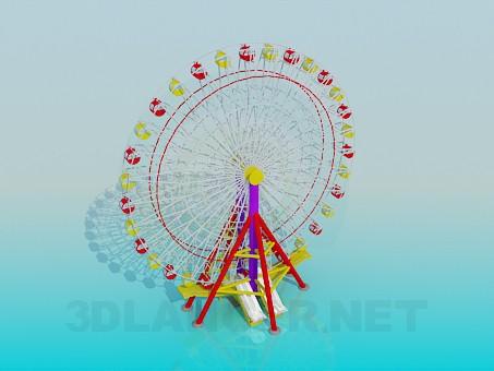 modelo 3D Rueda de la fortuna - escuchar