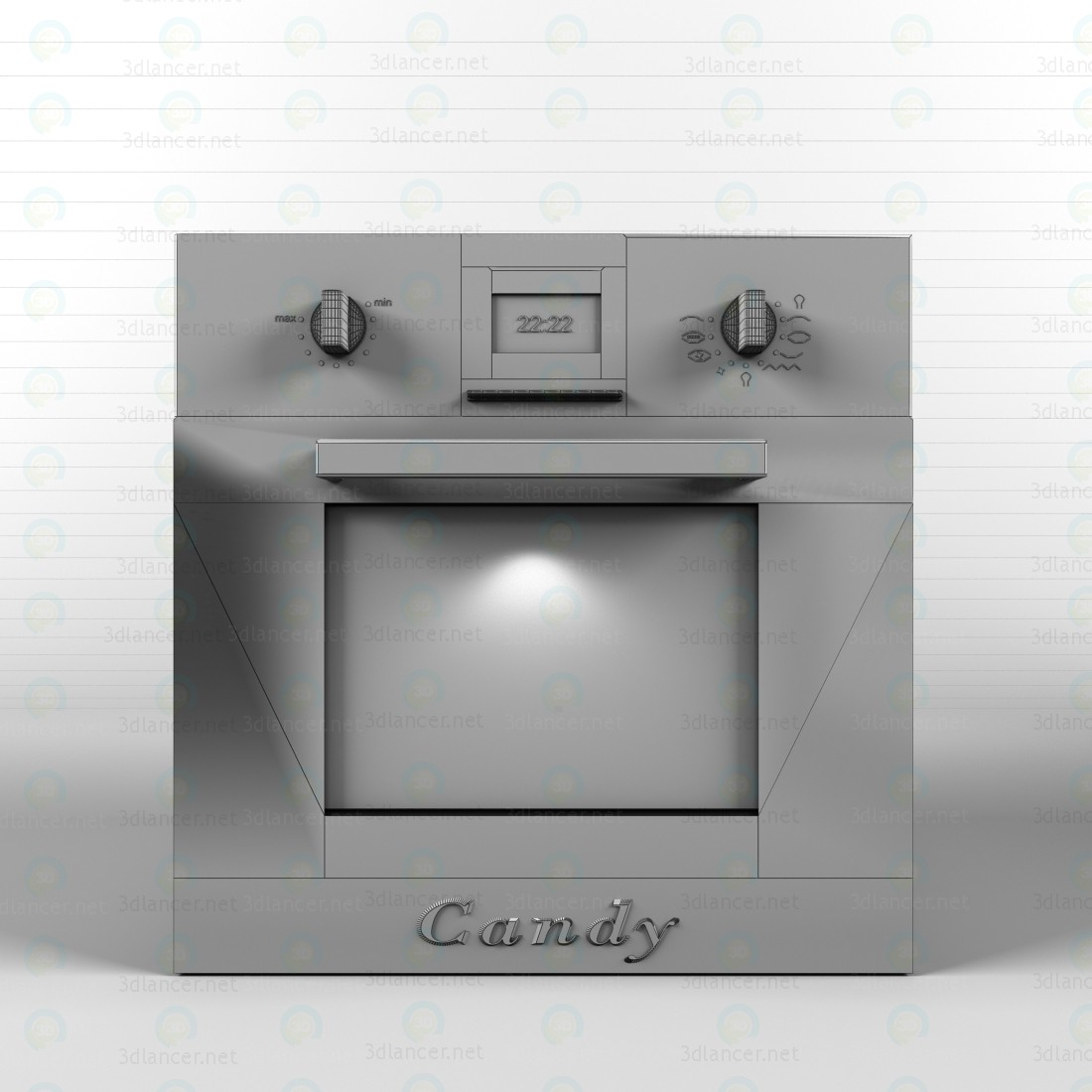 3d Oven, hob, extractor fan model buy - render