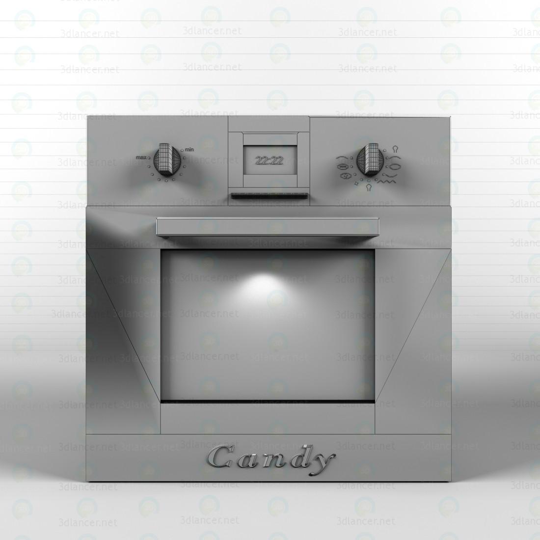 Horno, vitrocerámica, campana extractora 3D modelo Compro - render