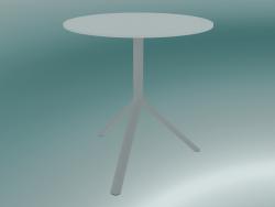 Tavolo MIURA (9590-01 (Ø70cm), H 73cm, bianco, bianco)