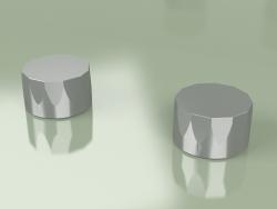 Set of 2 shut-off mixing valves Ø 63 mm per platform (15 51 V, AS)